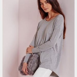 Missguided oversized grey top